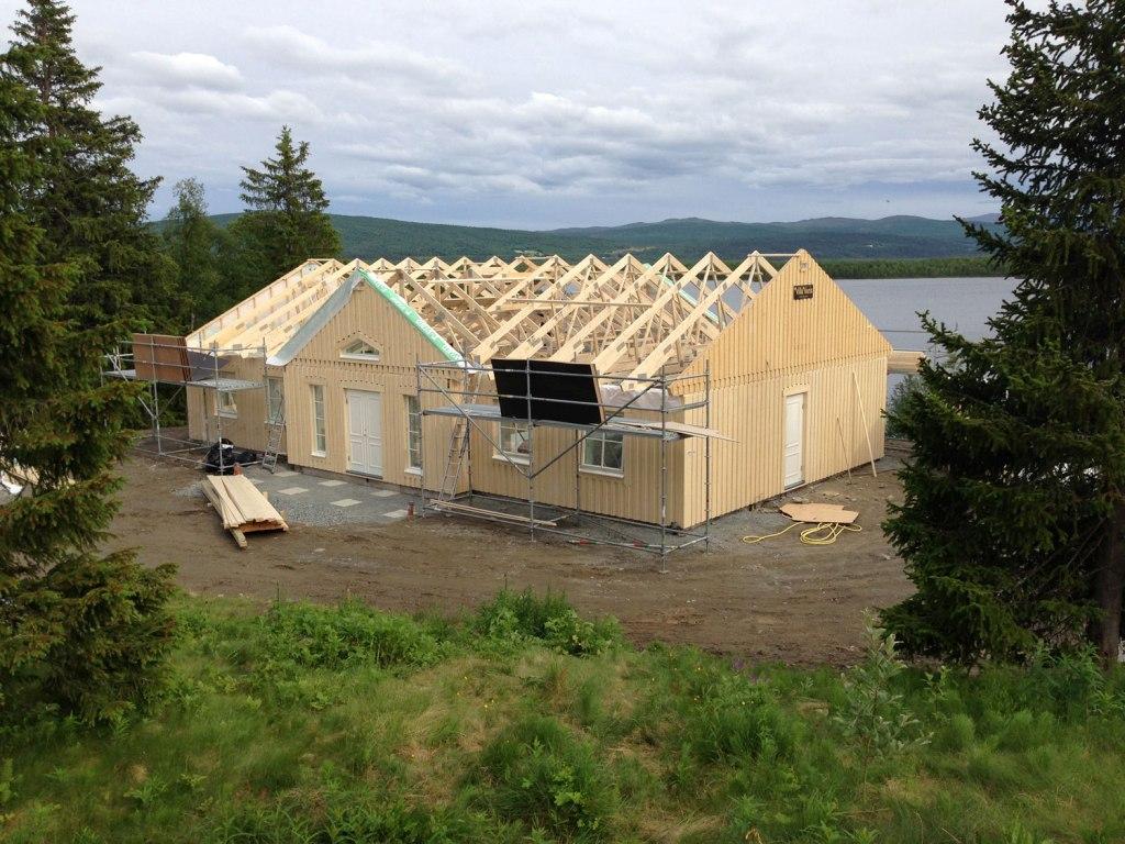 Bygga ut huset i vinkel