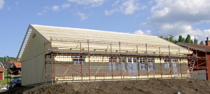 Kostnadseffektivt enplanshus med ryggåstak stomrest i Rättvik