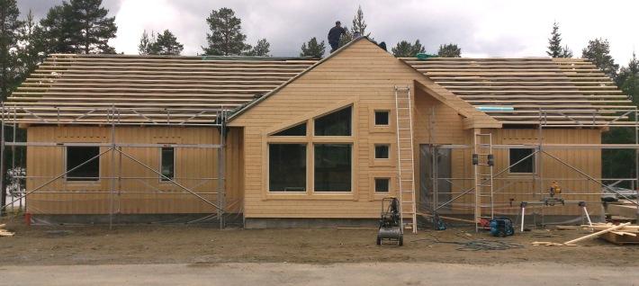Enplanshus med modern fönstersättning till Lycksele