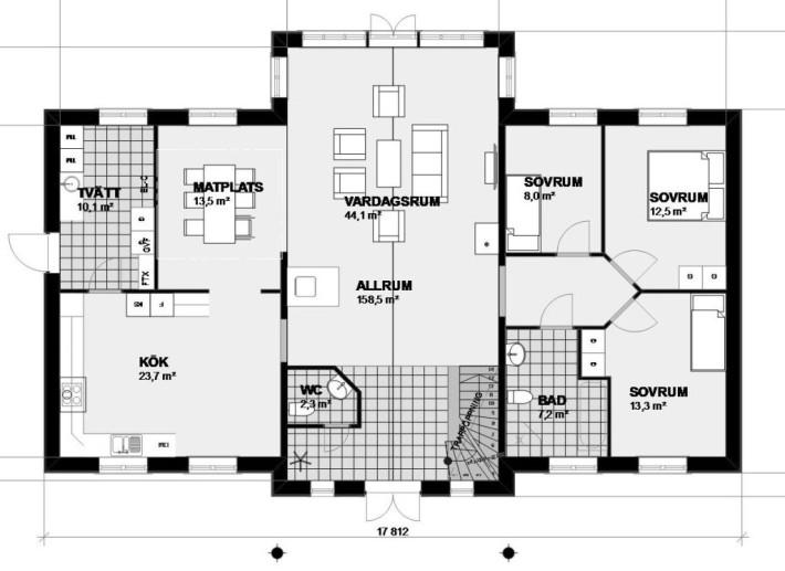 Planlösning Villa Floda