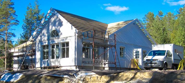 Trevligt vinkelhus stomrest utanför Luleå