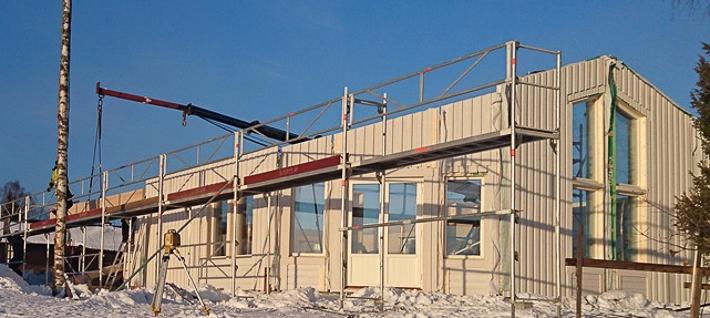 Modernt enplanshus med verandatak - Njurunda